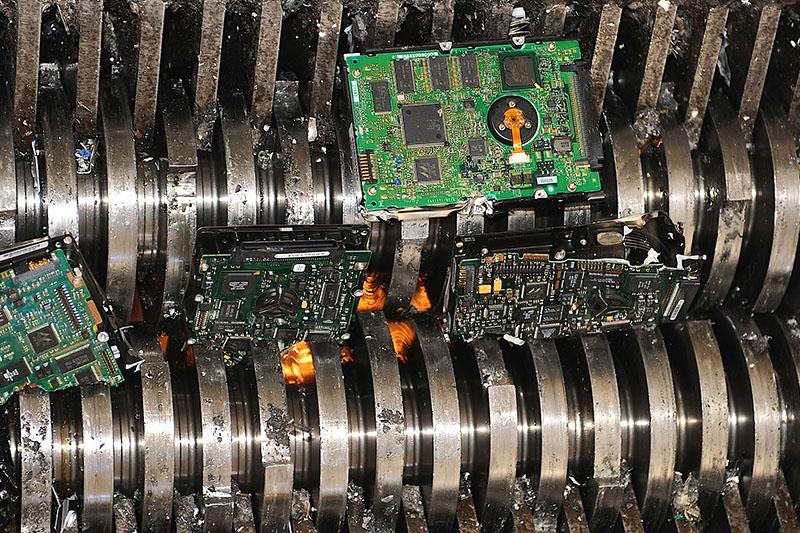 Destruction de supports informatiques
